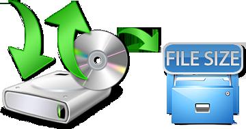 Windows backup file size